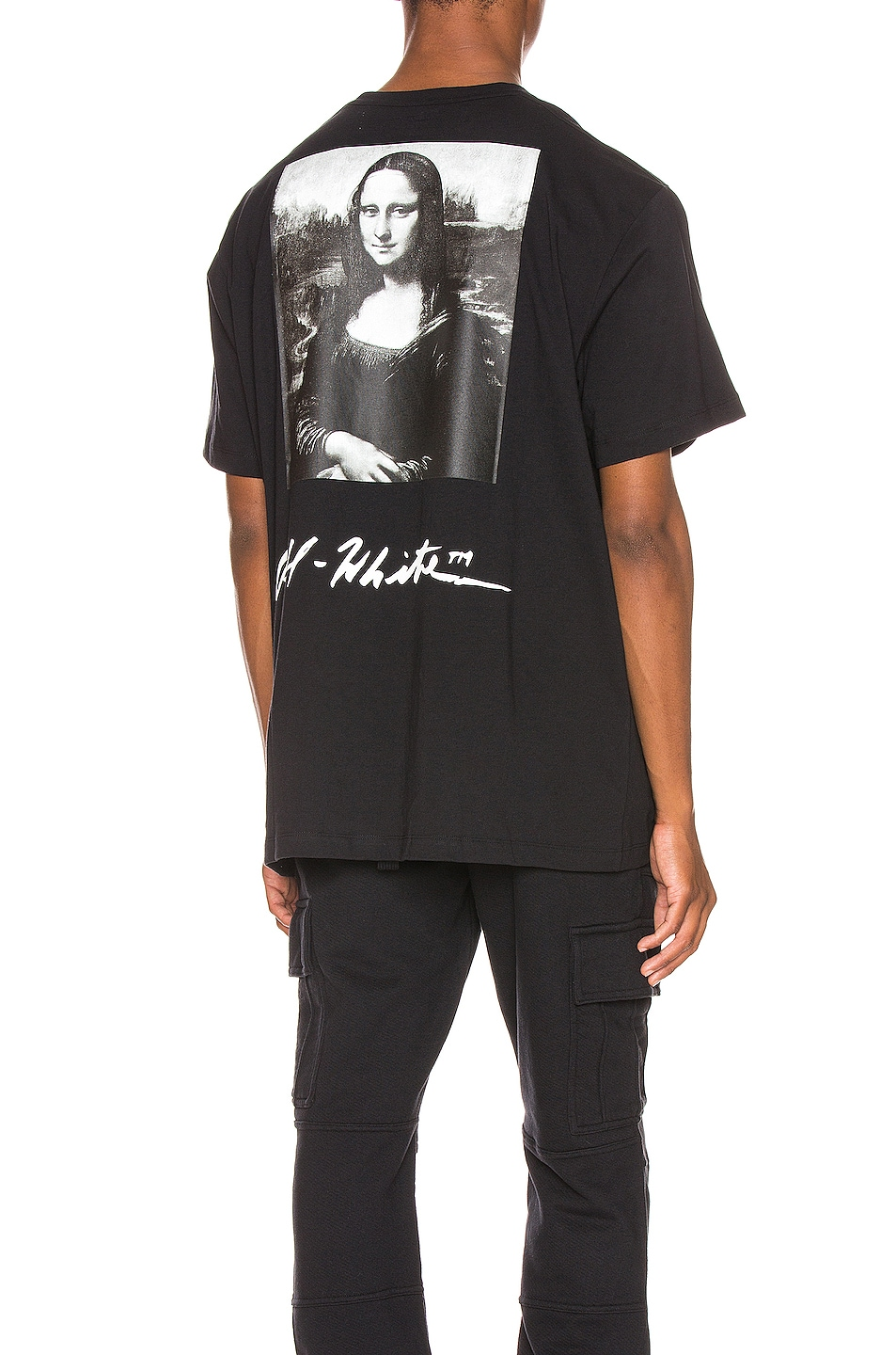 Image 1 of OFF-WHITE Mona Lisa Graphic Tee in Black & Red