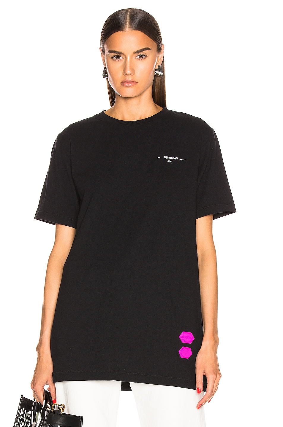Image 2 of OFF-WHITE EXCLUSIVE Short Sleeve Tee in Black