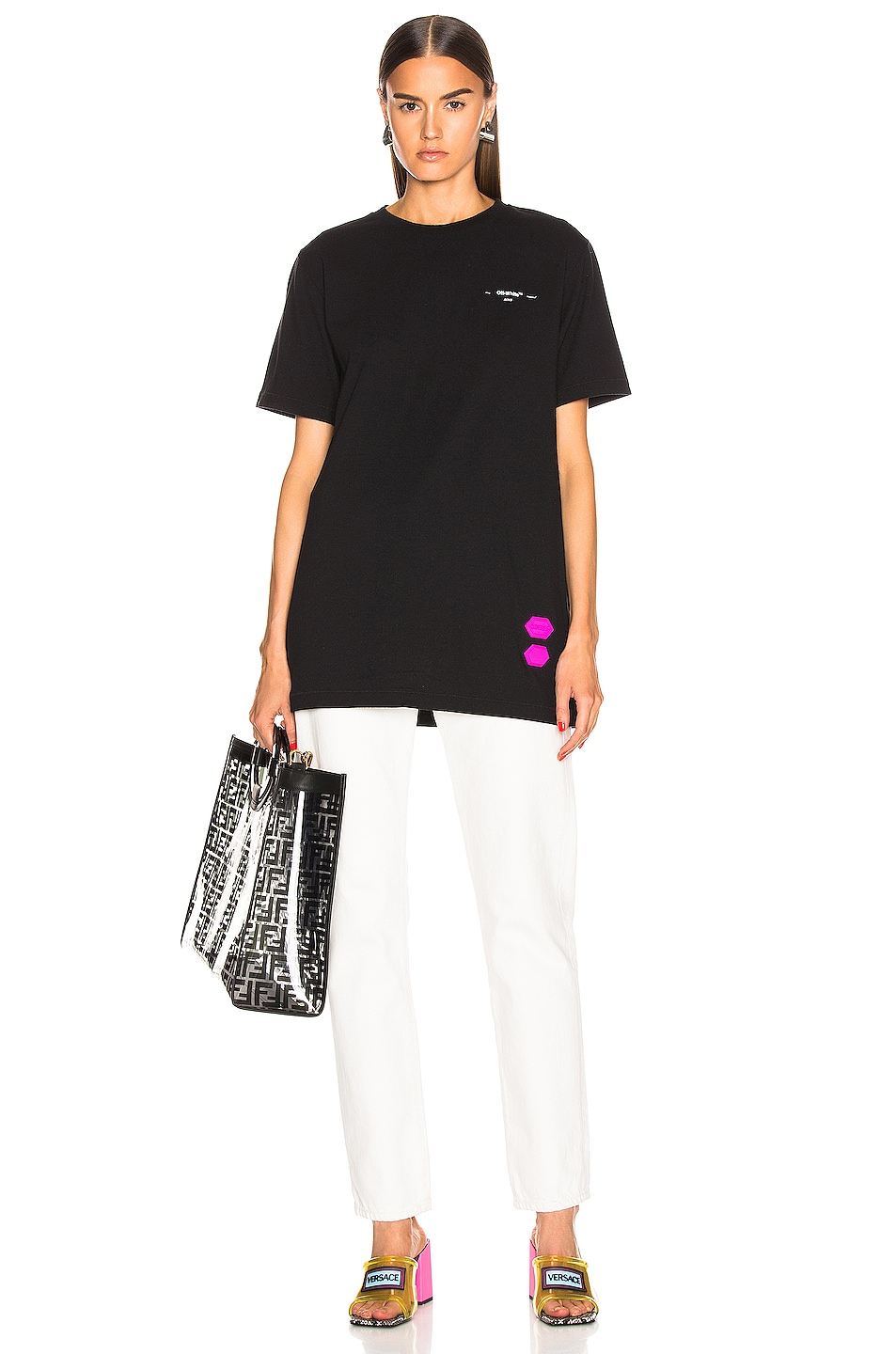 Image 6 of OFF-WHITE EXCLUSIVE Short Sleeve Tee in Black