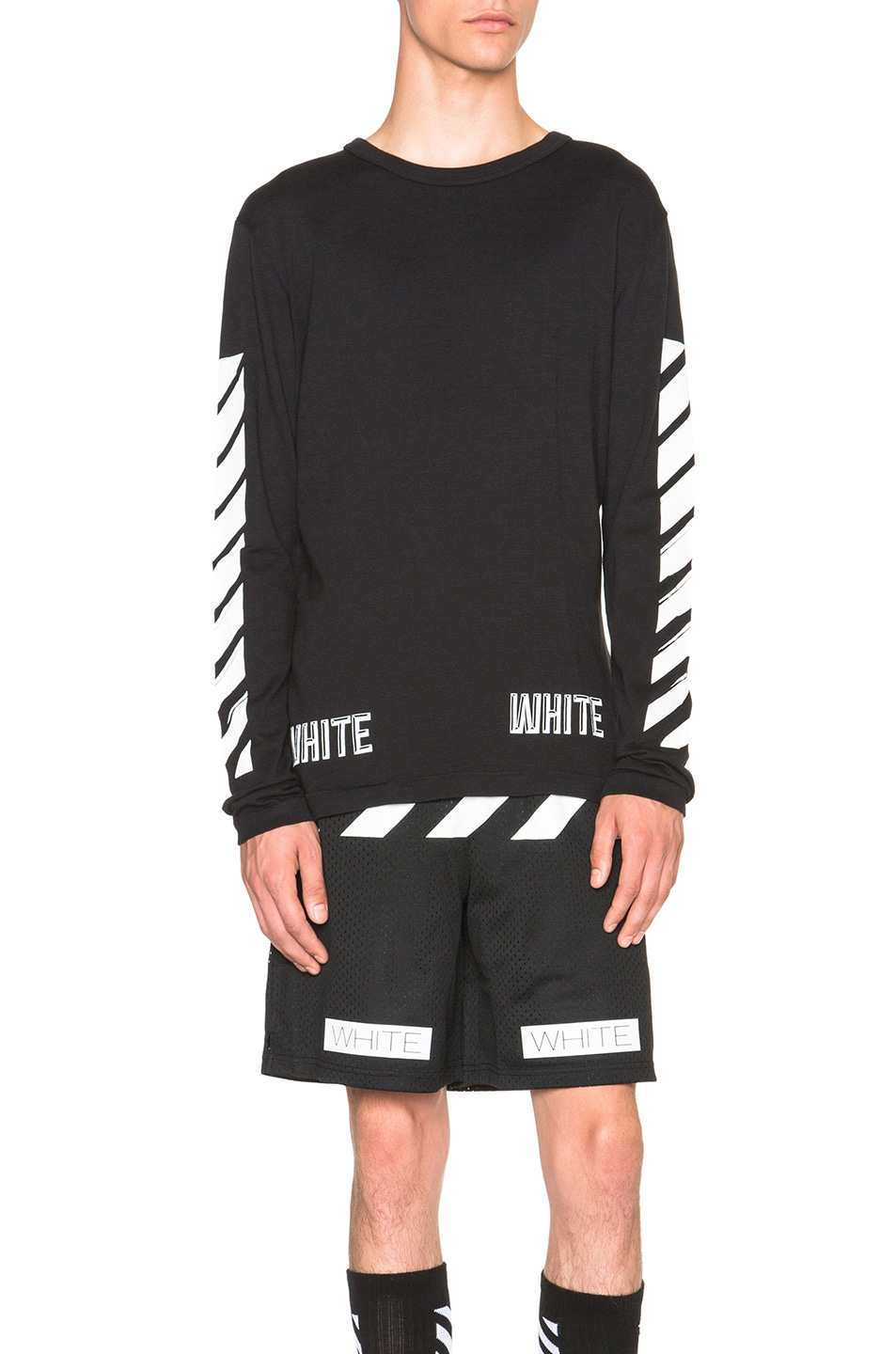 2d7fb741170c Image 1 of OFF-WHITE 3D White Long Sleeve Tee in Black