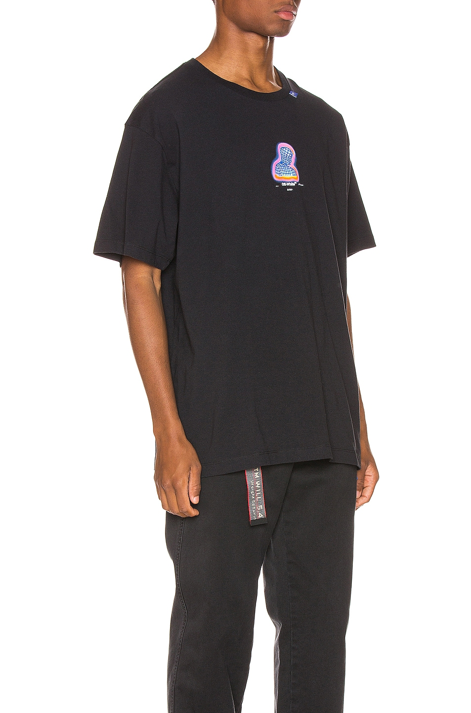 Image 3 of OFF-WHITE Thermo Oversized Tee in Black Multi