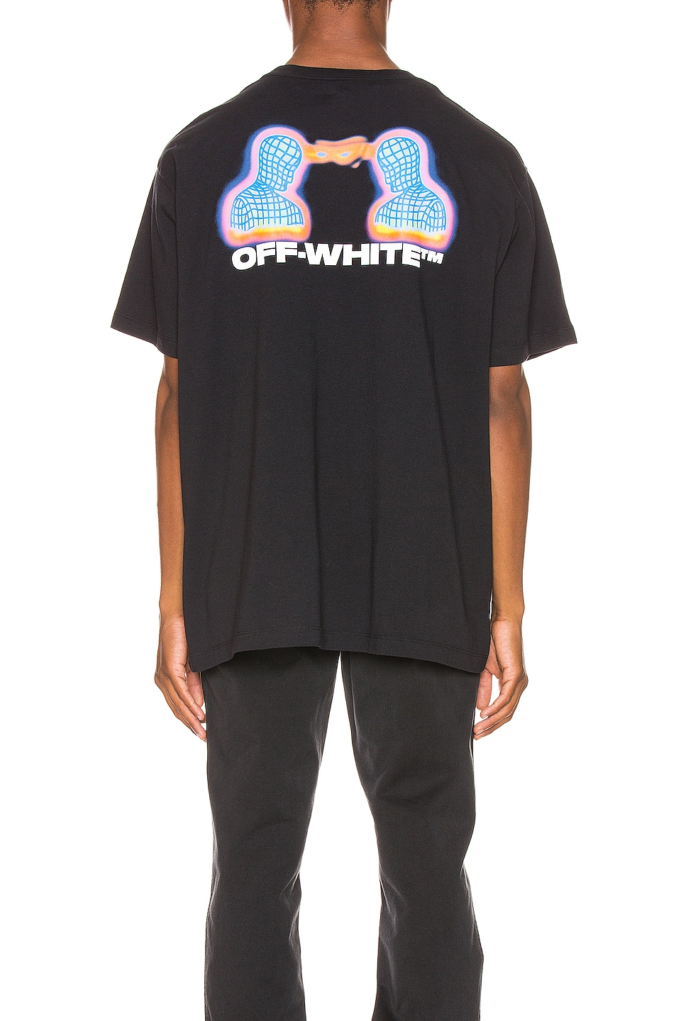 Image 4 of OFF-WHITE Thermo Oversized Tee in Black Multi