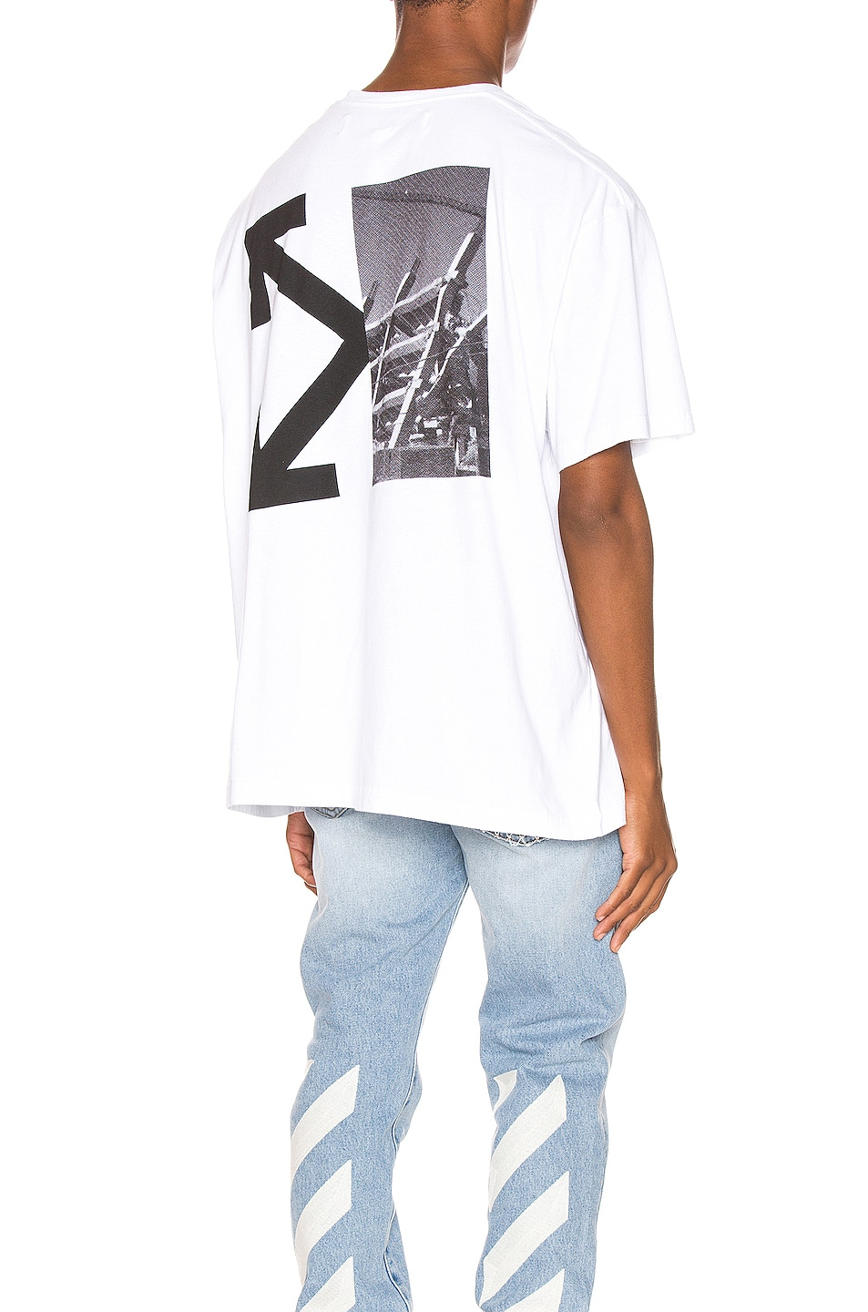 Image 1 of OFF-WHITE Splitted Arrows Oversized Tee in White & Black