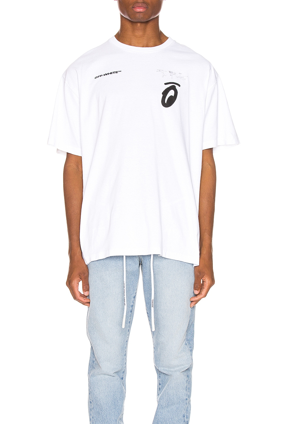 Image 2 of OFF-WHITE Splitted Arrows Oversized Tee in White & Black
