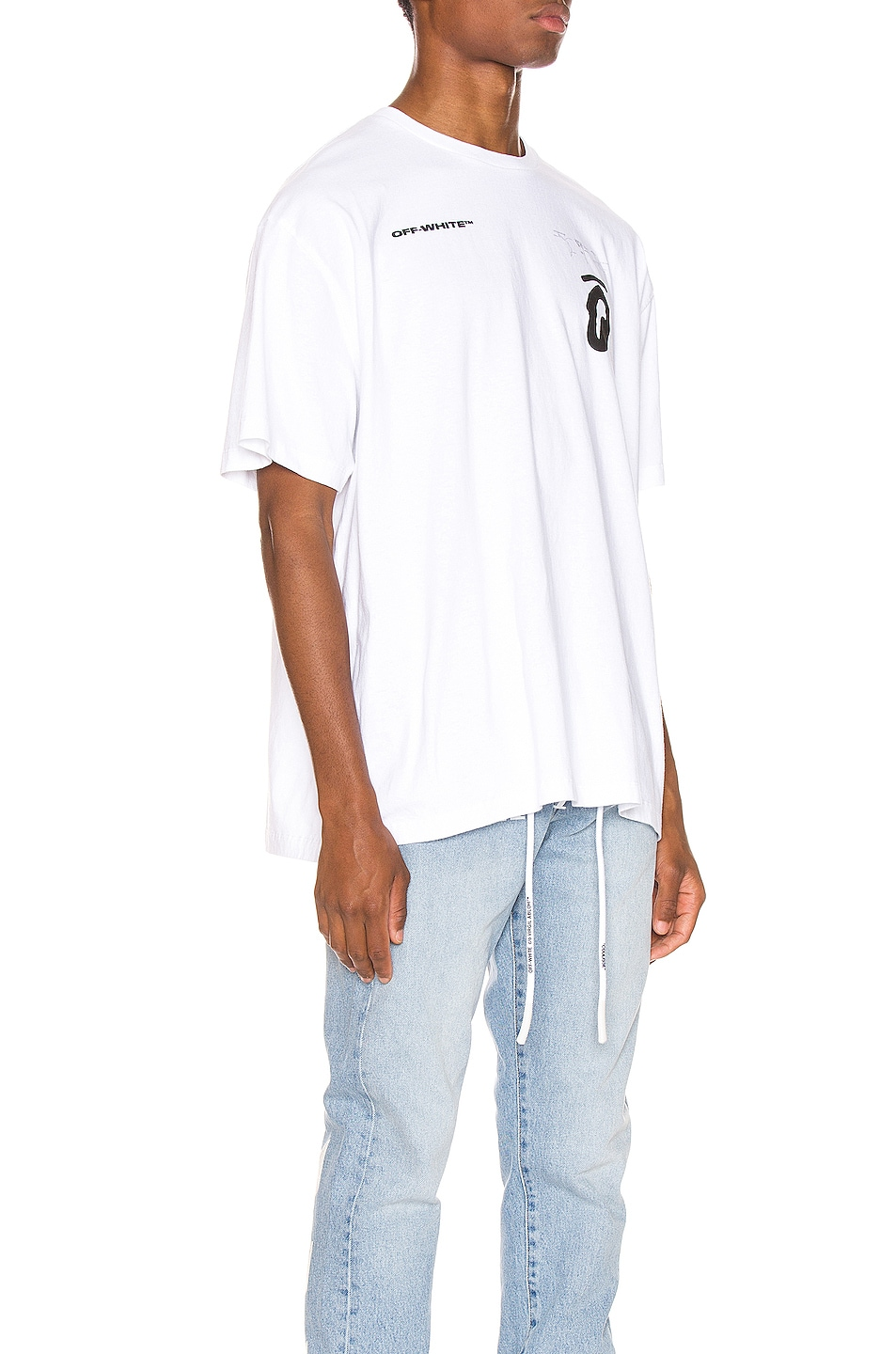 Image 3 of OFF-WHITE Splitted Arrows Oversized Tee in White & Black