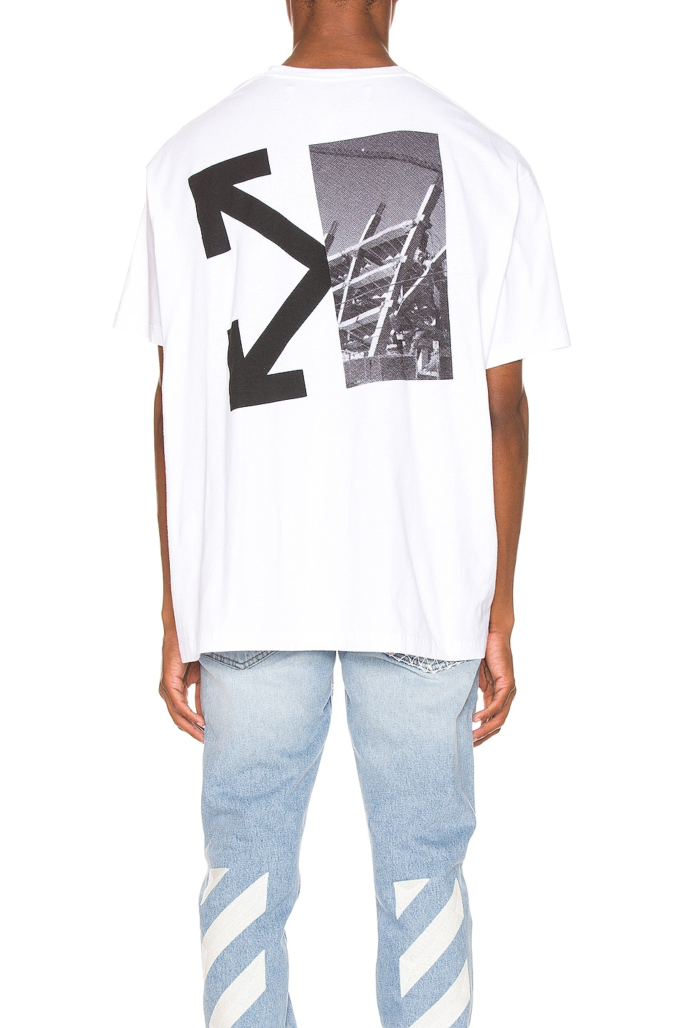 OFF-WHITE Splitted Arrows Oversized Tee White & Black durable service