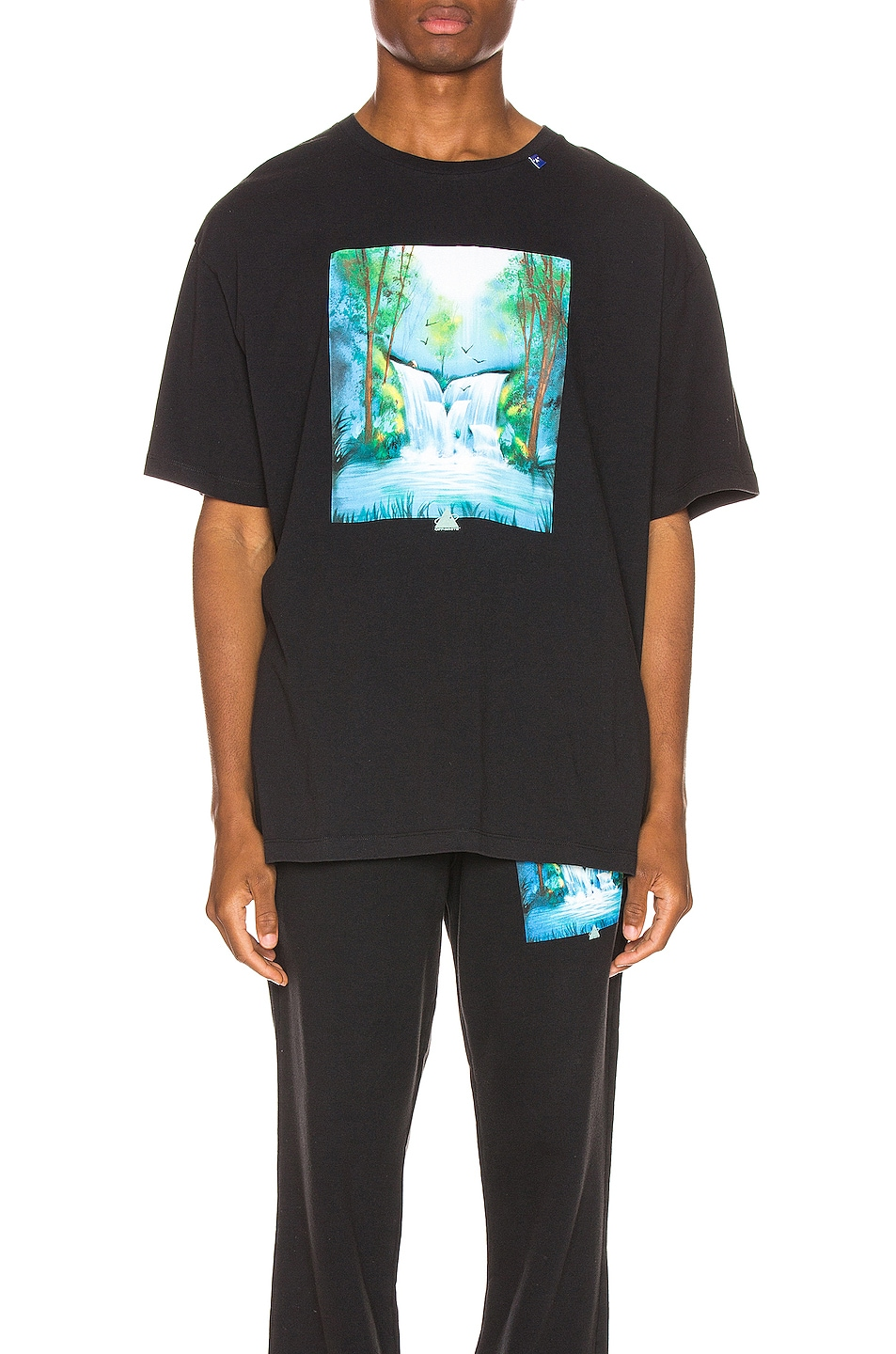 Image 1 of OFF-WHITE Waterfall Oversized Tee in Black Multi