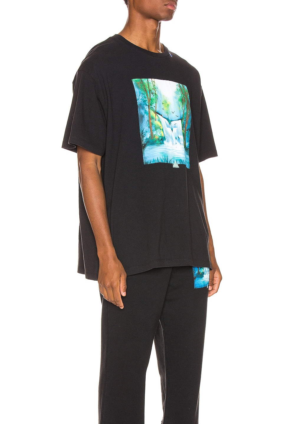 Image 2 of OFF-WHITE Waterfall Oversized Tee in Black Multi