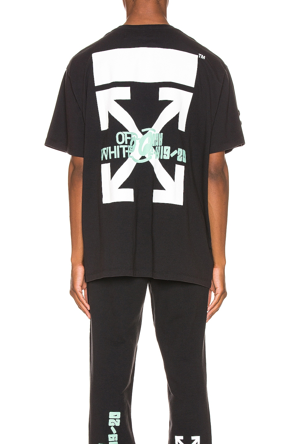 Image 3 of OFF-WHITE Waterfall Oversized Tee in Black Multi