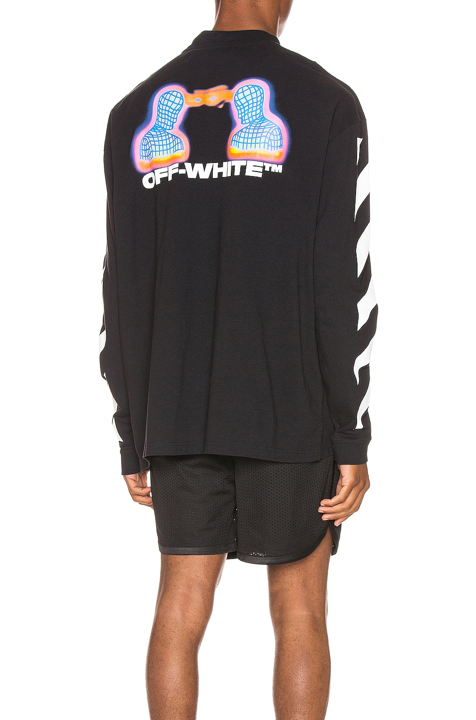 Image 1 of OFF-WHITE Diag Thermo Tee in Black Multi