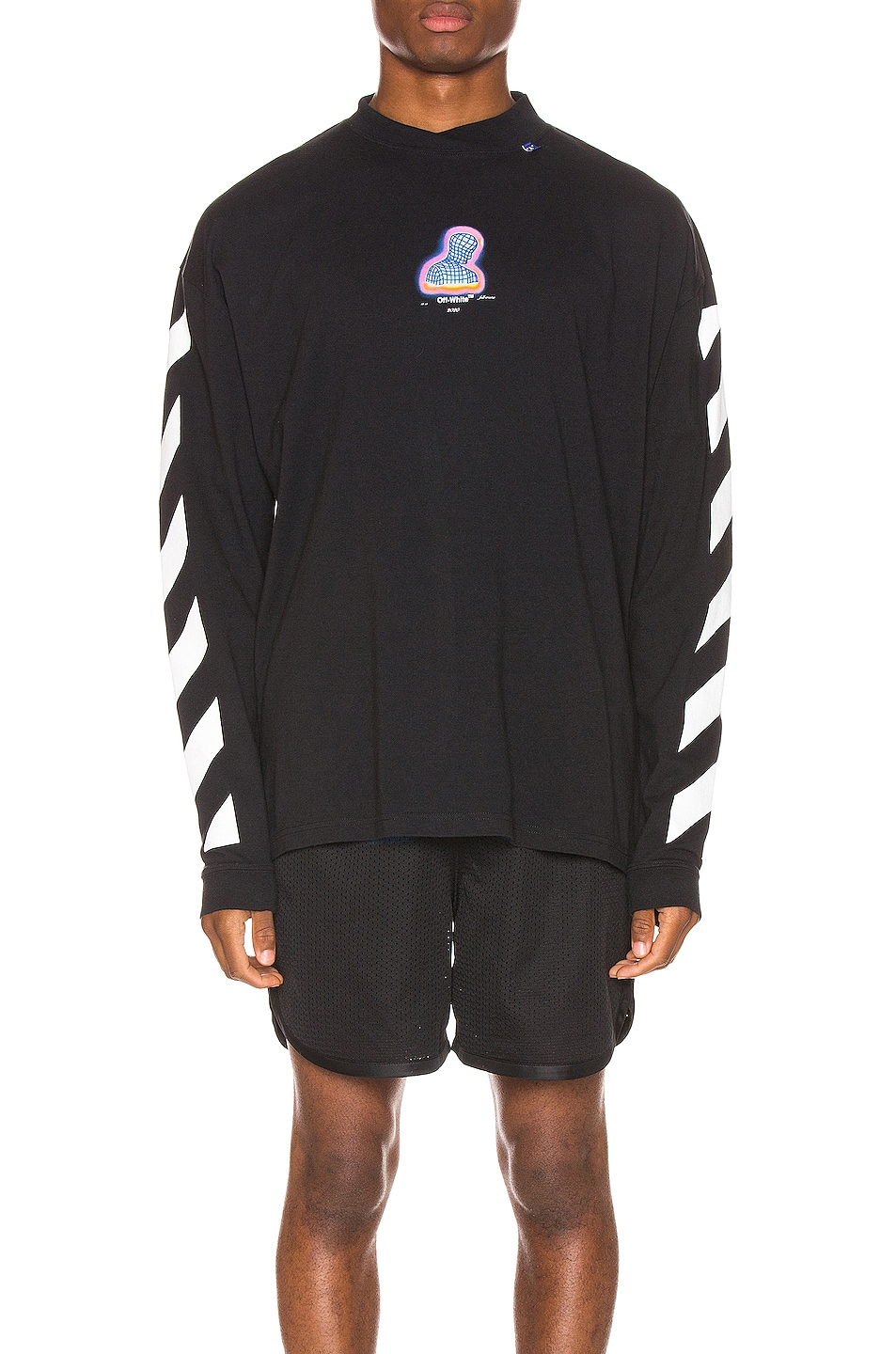 Image 2 of OFF-WHITE Diag Thermo Tee in Black Multi