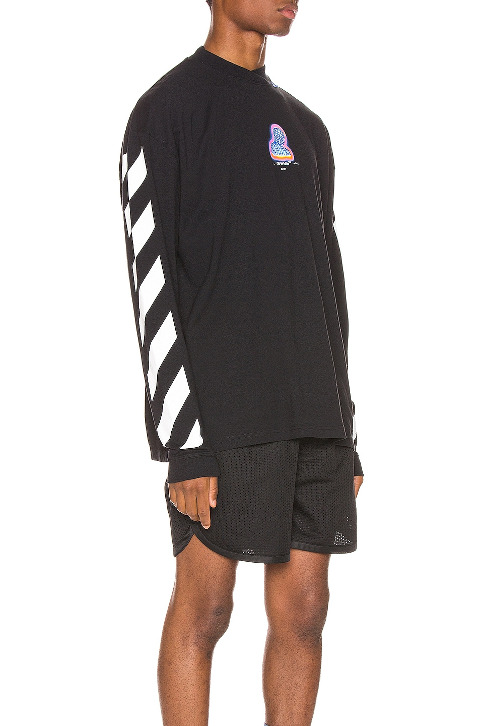 Image 3 of OFF-WHITE Diag Thermo Tee in Black Multi
