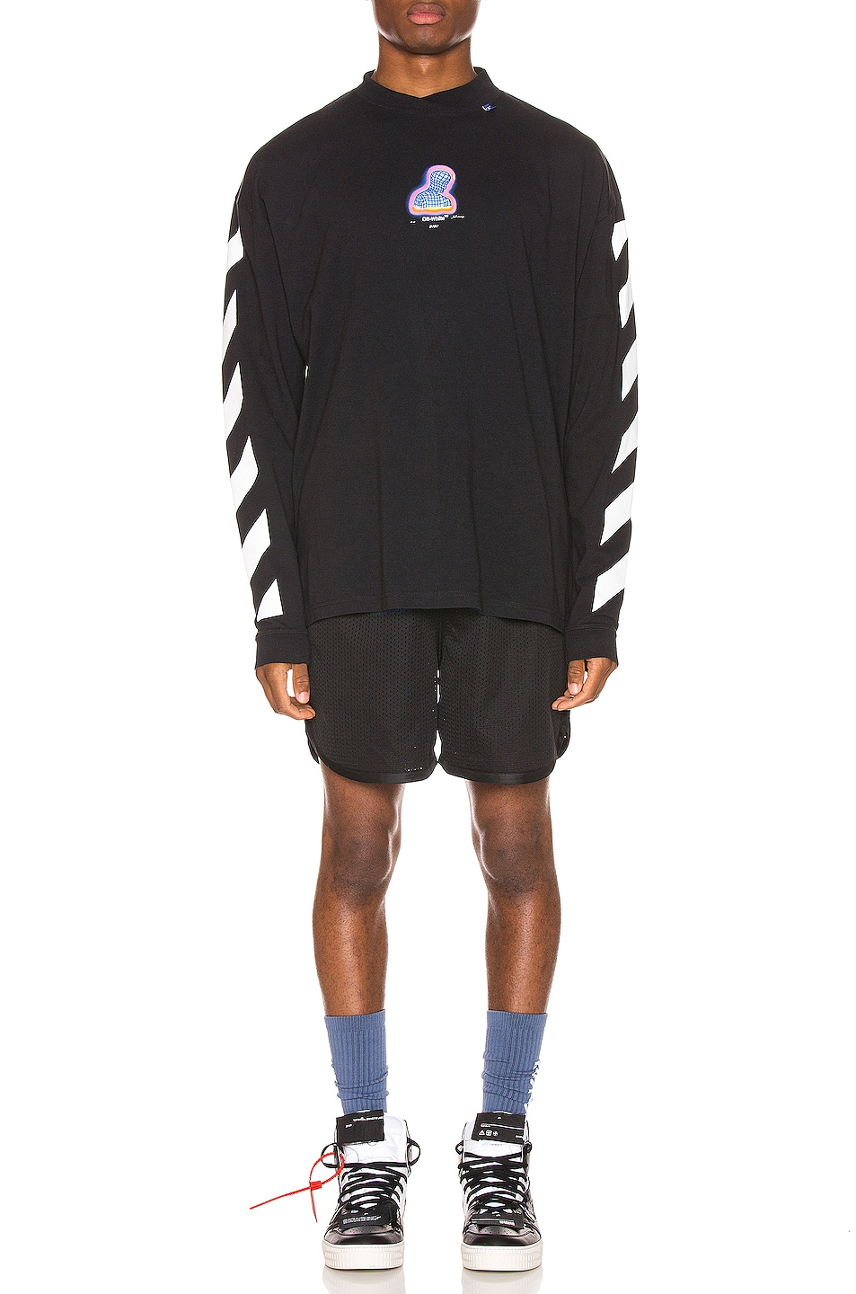 Image 5 of OFF-WHITE Diag Thermo Tee in Black Multi