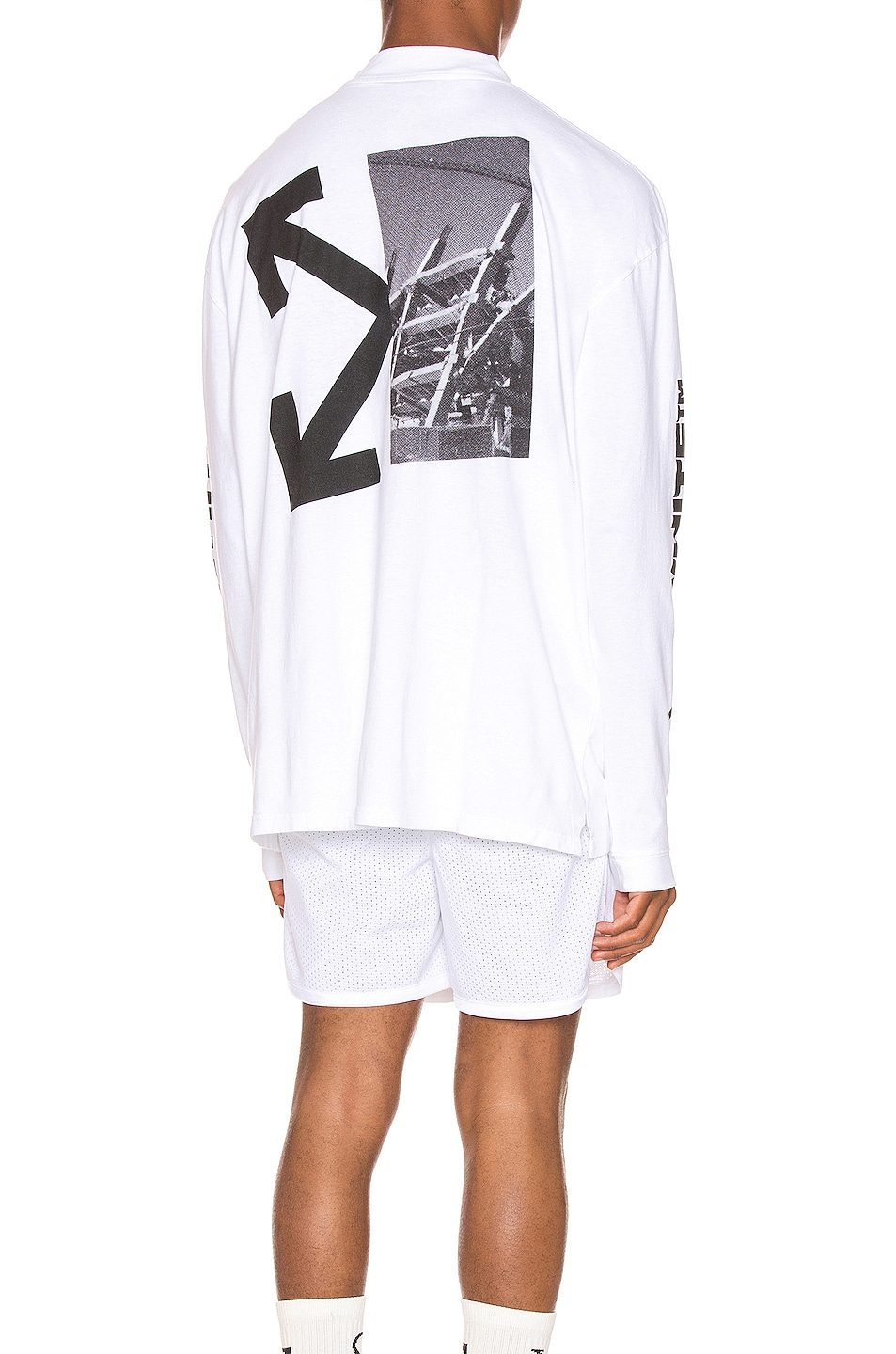 Image 1 of OFF-WHITE Splitted Arrows Over Mock Tee in White