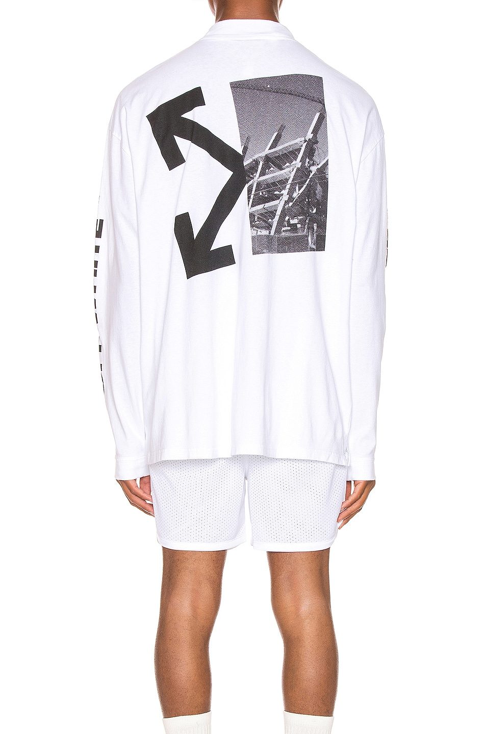 Image 5 of OFF-WHITE Splitted Arrows Over Mock Tee in White