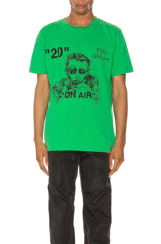 Image 1 of OFF-WHITE Mirko Artist Tee in Green & Black