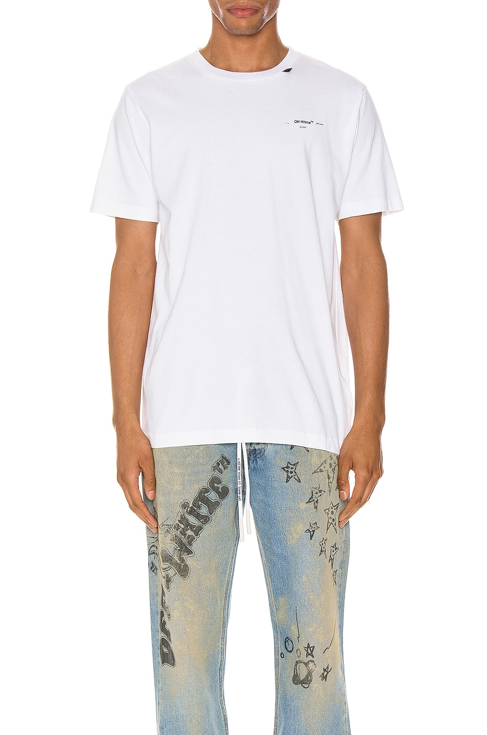 Image 2 of OFF-WHITE Abstract Arrows Tee in White & Black