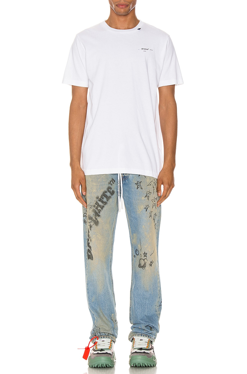 Image 5 of OFF-WHITE Abstract Arrows Tee in White & Black