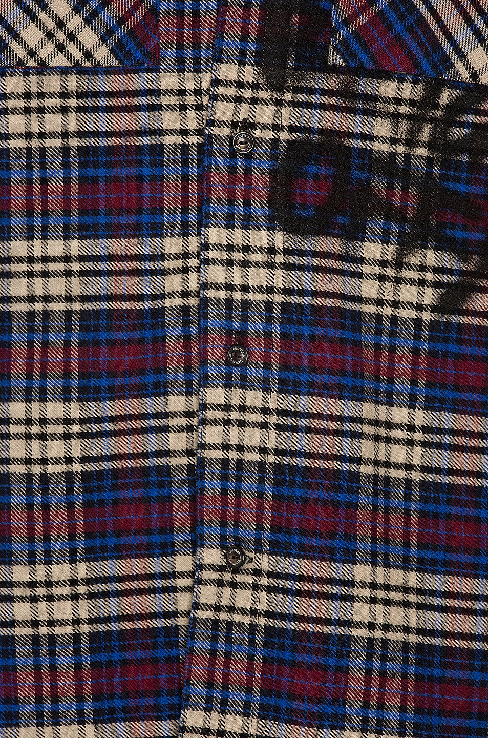 Image 6 of OFF-WHITE Flannel Check Shirt in Blue & Black