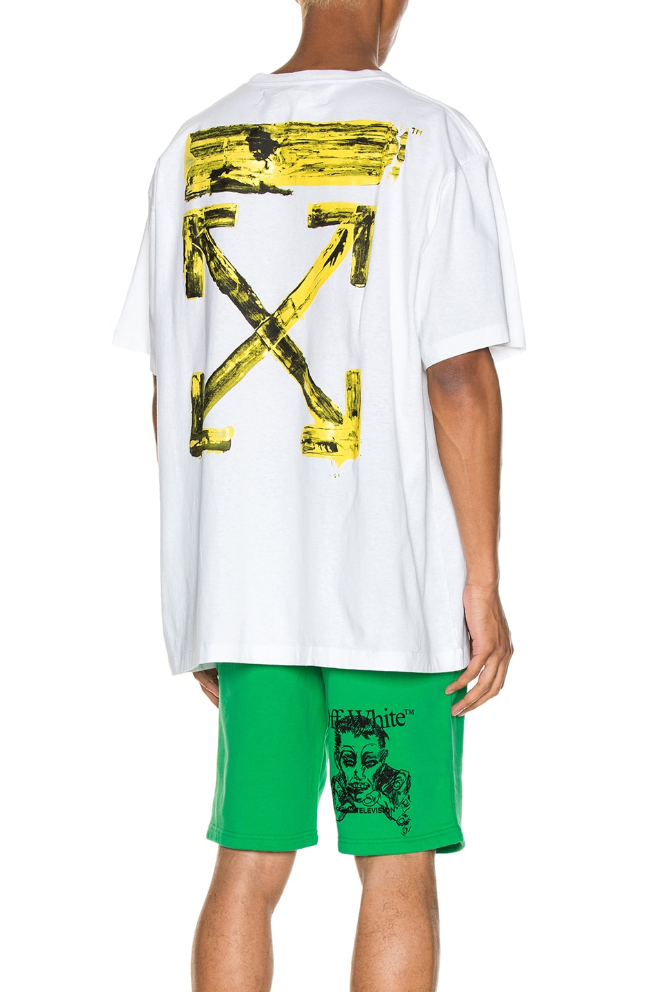 Image 1 of OFF-WHITE Acrylic Arrows Tee in White & Yellow