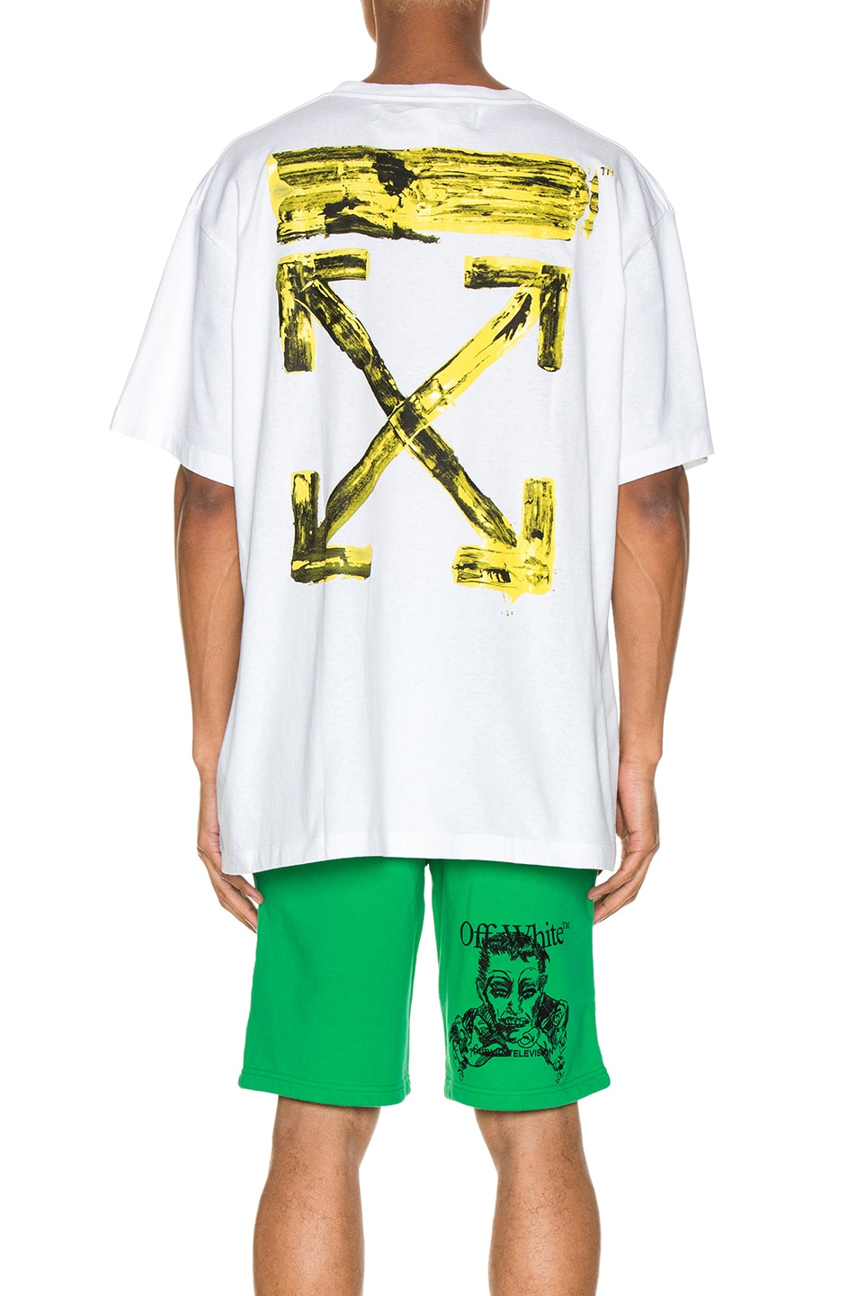 Image 5 of OFF-WHITE Acrylic Arrows Tee in White & Yellow