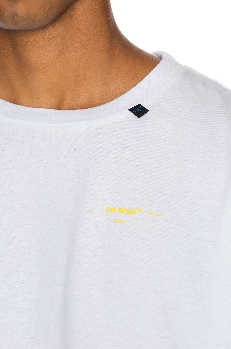Image 7 of OFF-WHITE Acrylic Arrows Tee in White & Yellow