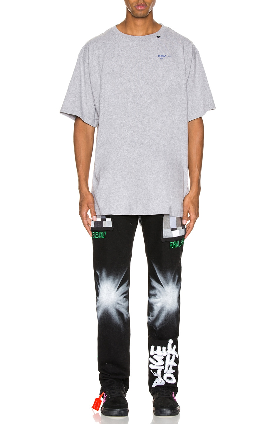 Image 6 of OFF-WHITE Acrylic Arrows Tee in Grey