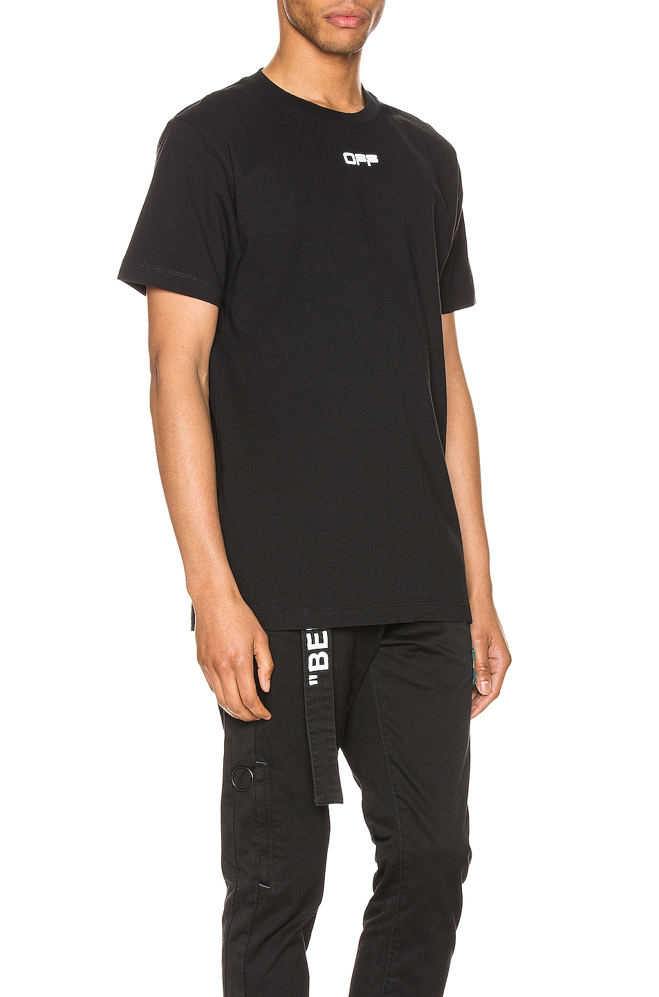 Image 3 of OFF-WHITE Wavy Line Logo Tee in Black & White
