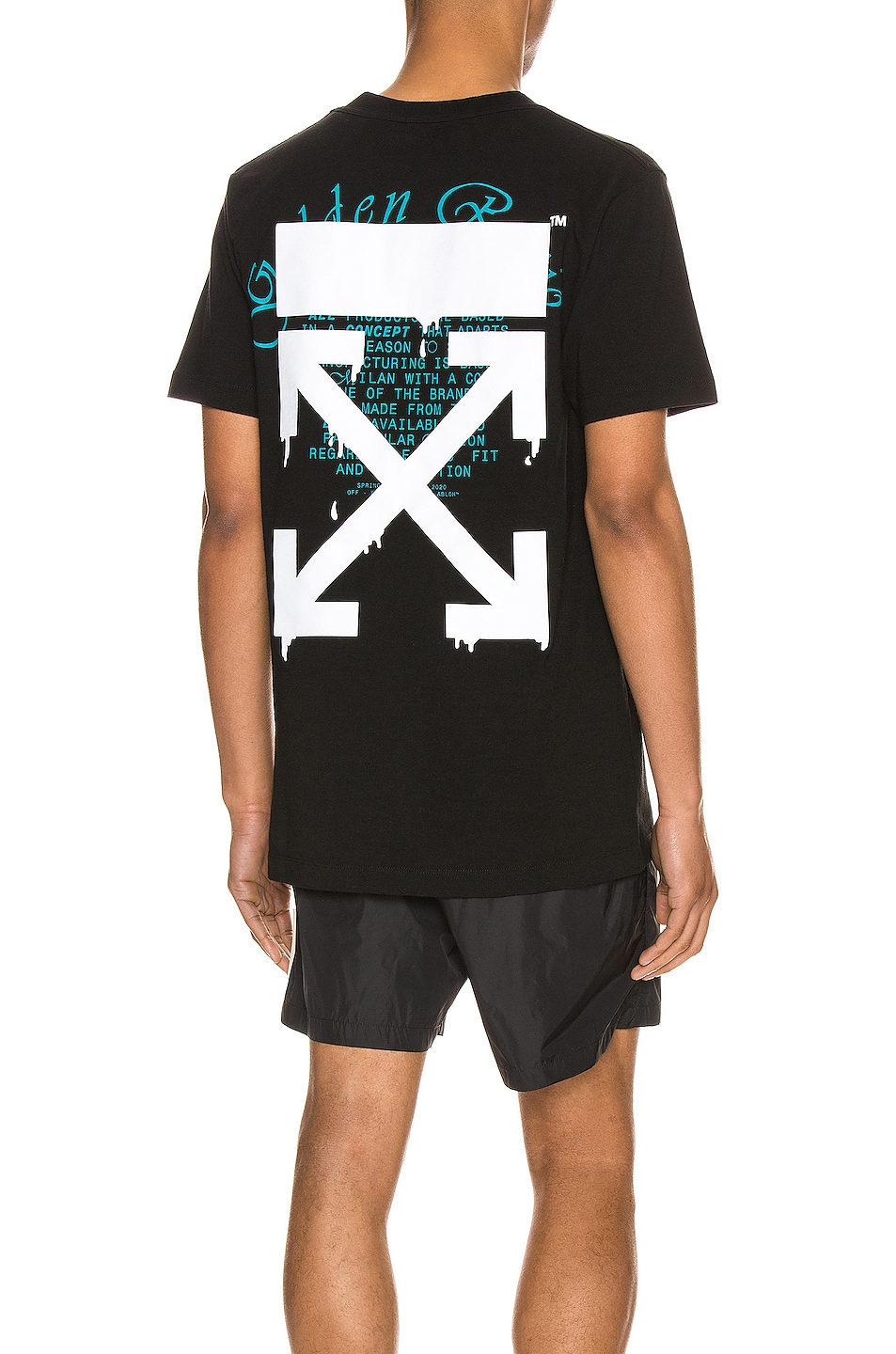 Image 1 of OFF-WHITE Dripping Arrows Slim Tee in Black & White