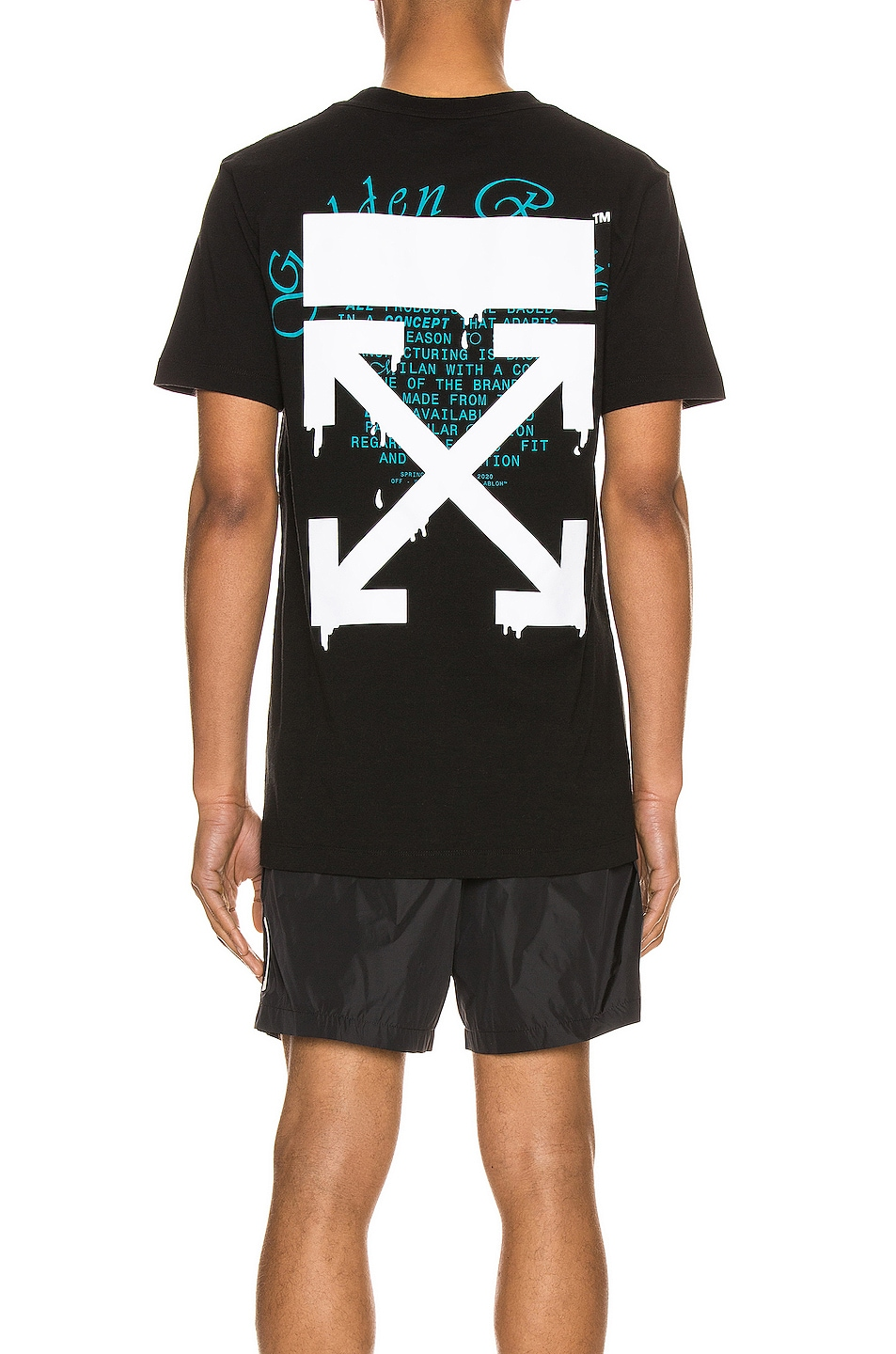 Image 5 of OFF-WHITE Dripping Arrows Slim Tee in Black & White