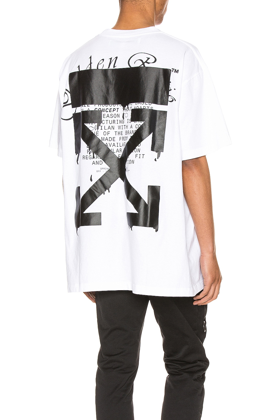 Image 1 of OFF-WHITE Dripping Arrows Tee in White & Black