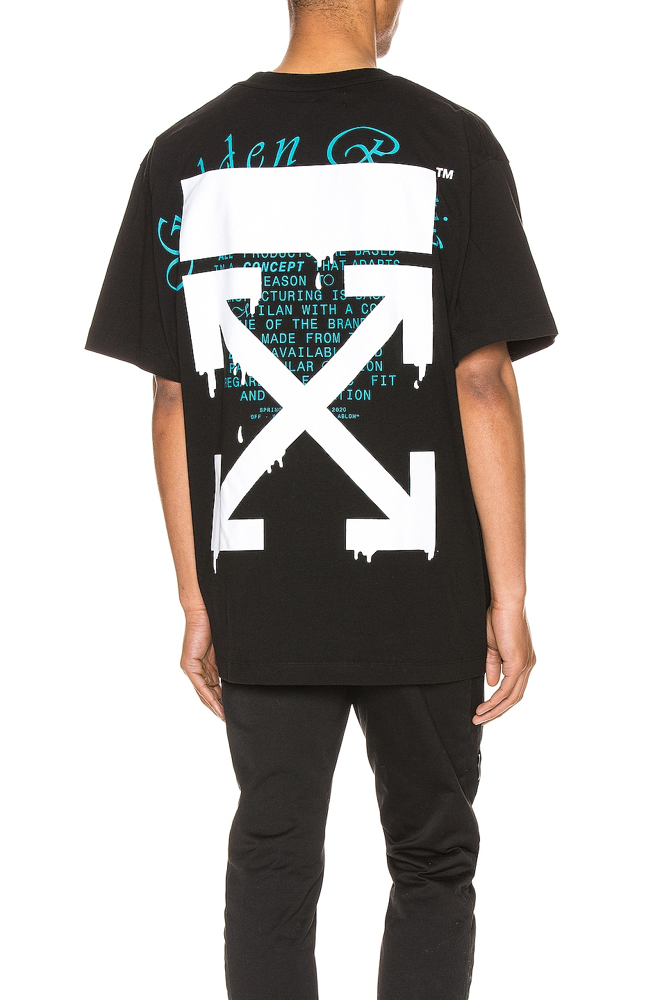 Image 1 of OFF-WHITE Dripping Arrows Over Tee in Black & White