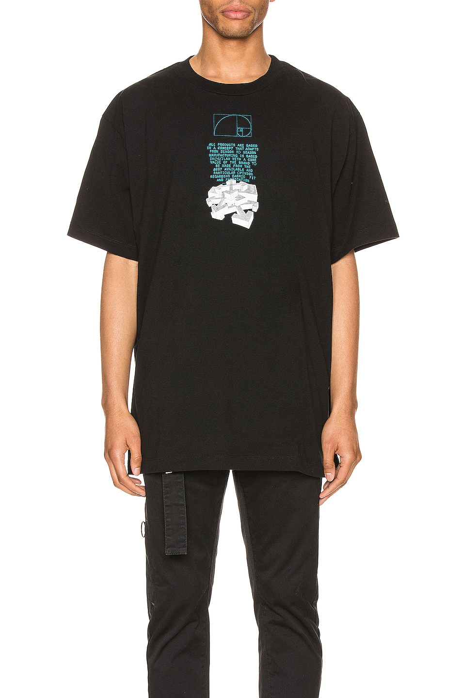 Image 2 of OFF-WHITE Dripping Arrows Over Tee in Black & White