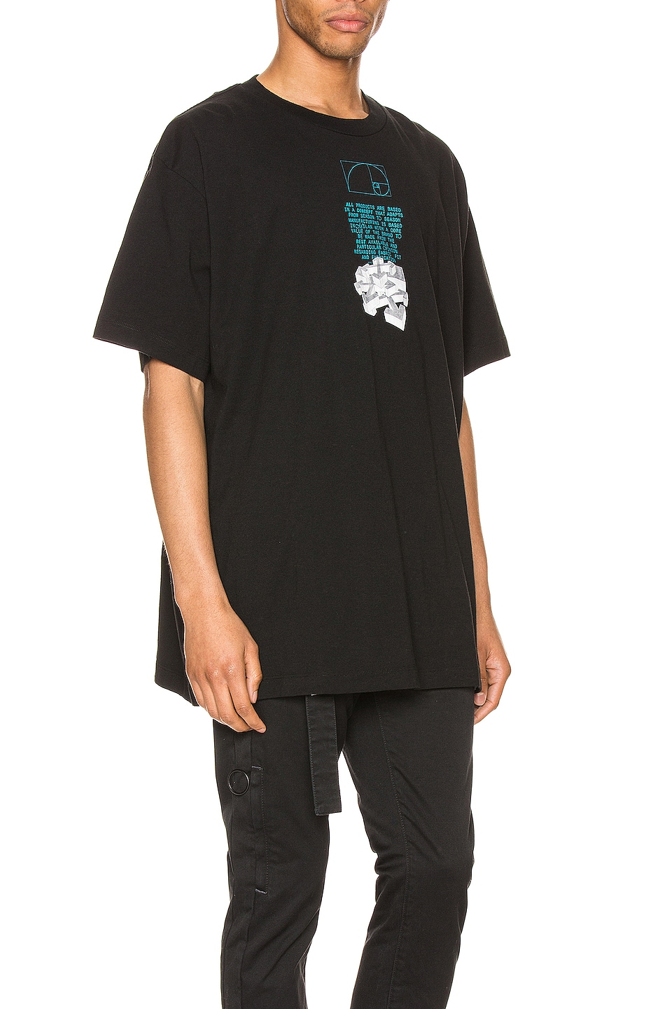 Image 3 of OFF-WHITE Dripping Arrows Over Tee in Black & White