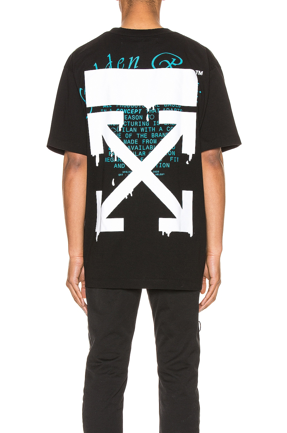 Image 4 of OFF-WHITE Dripping Arrows Over Tee in Black & White