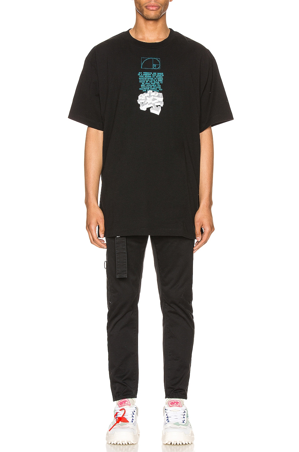 Image 5 of OFF-WHITE Dripping Arrows Over Tee in Black & White