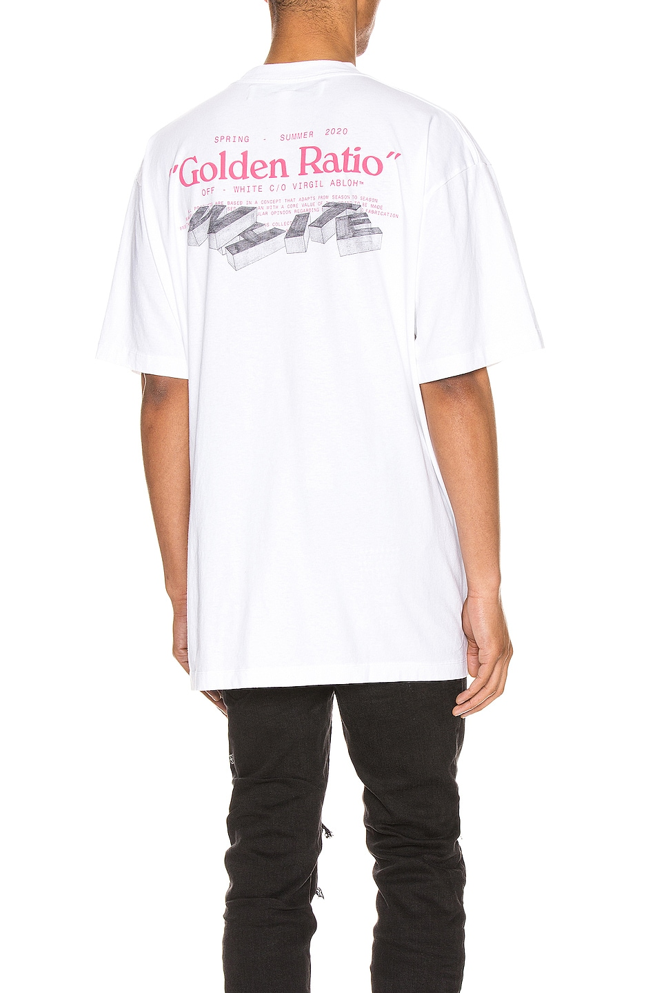 Image 1 of OFF-WHITE Golden Ratio Over Tee in White Multi