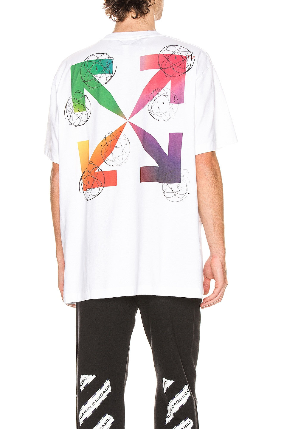 Image 1 of OFF-WHITE Futura Atoms Short Sleeve Tee in White & Multi