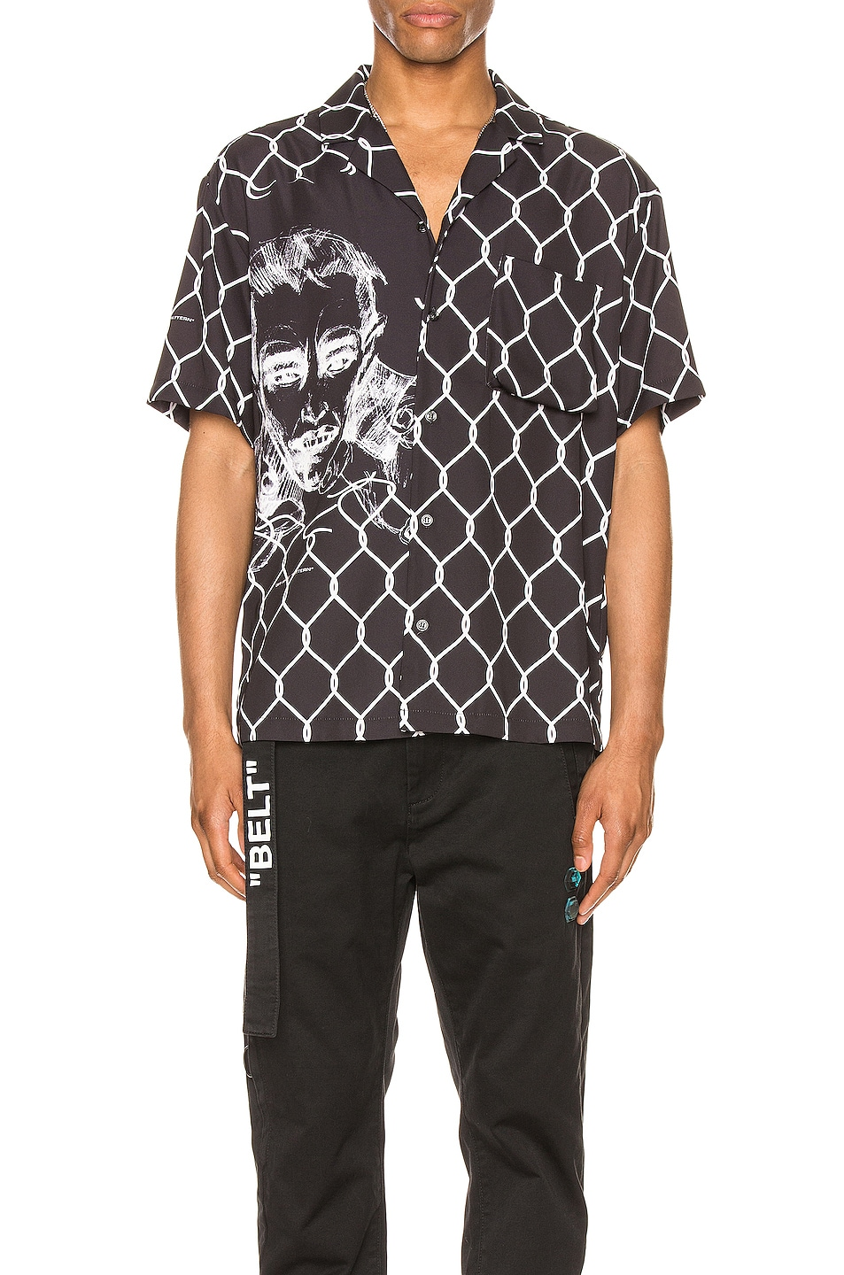 Image 1 of OFF-WHITE Broken Fence Holiday Shirt in Black & White