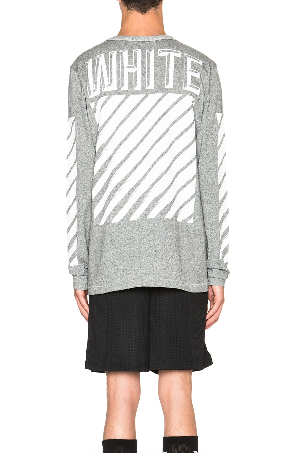 32105453f495 Image 4 of OFF-WHITE 3D White Long Sleeve Tee in Grey
