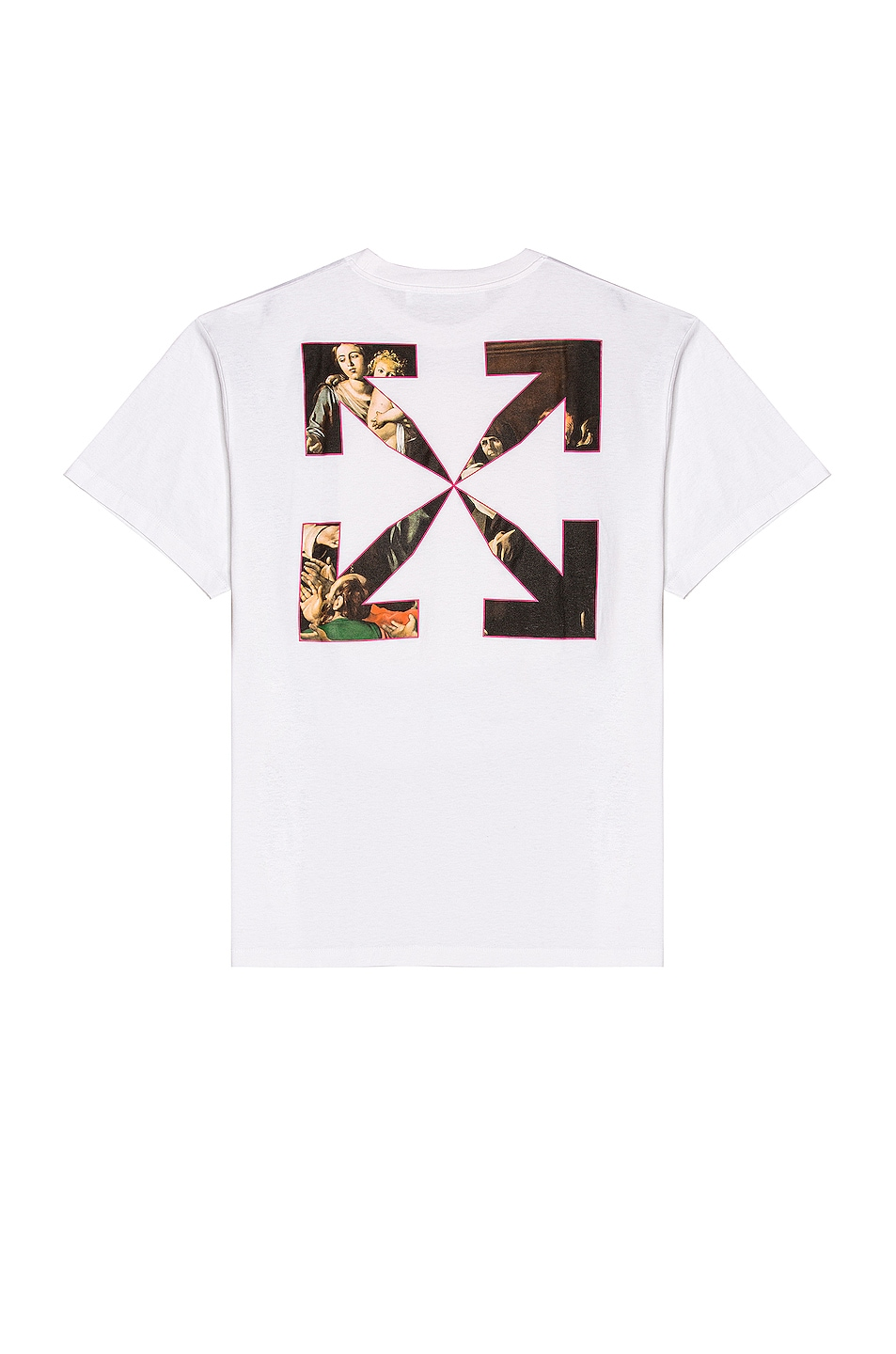 Image 1 of OFF-WHITE Sprayed Caravaggio Over Tee in White