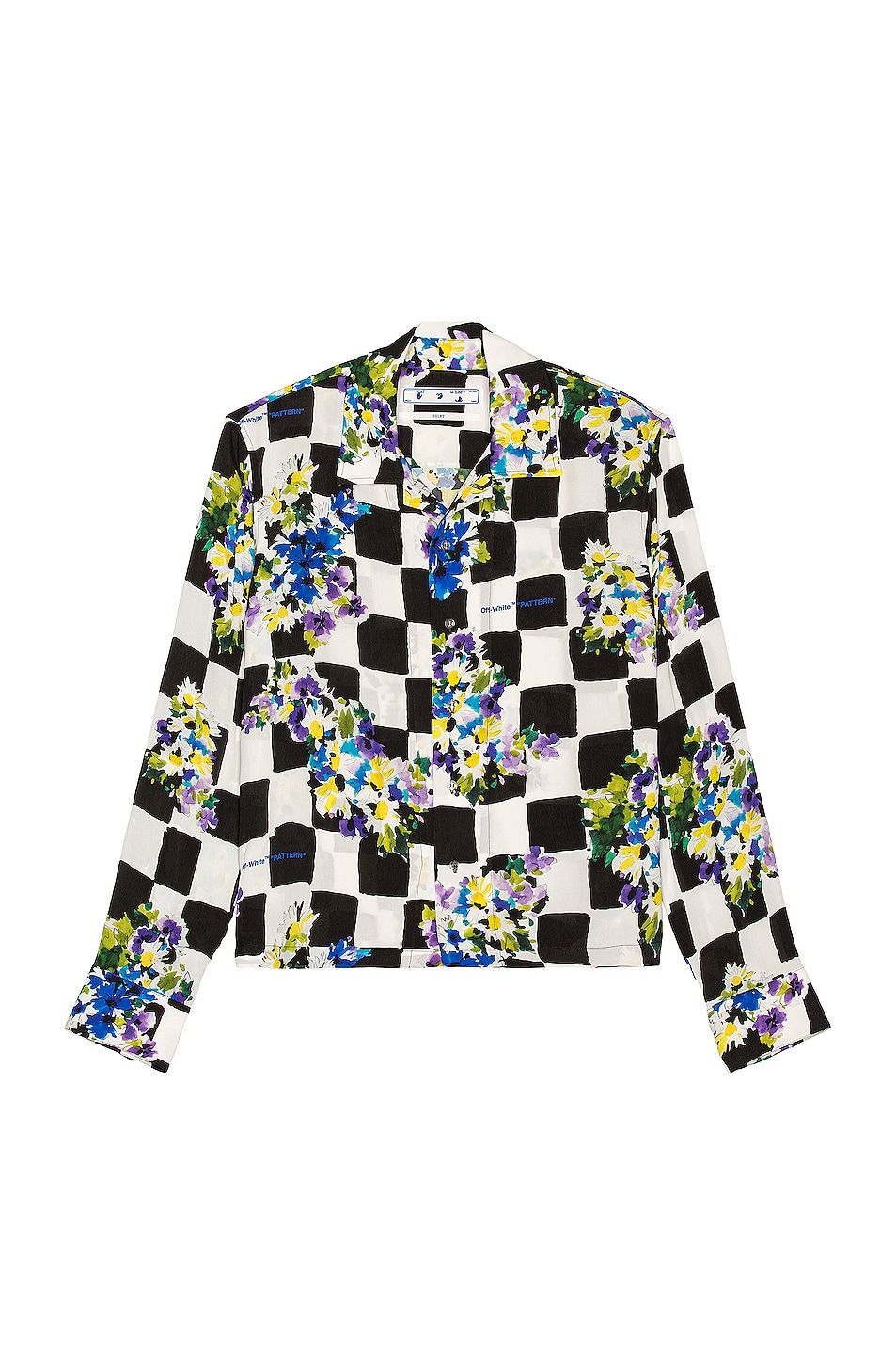 Image 1 of OFF-WHITE Check Flowers Casual Shirt in Multi