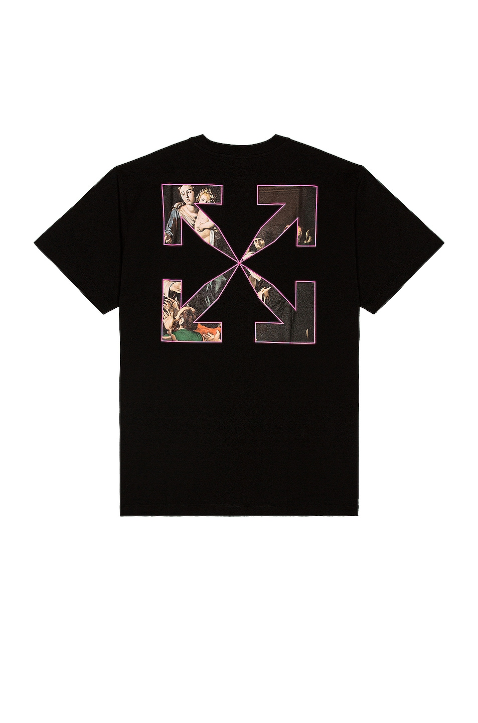 Image 1 of OFF-WHITE Sprayed Caravaggio Over Tee in Black
