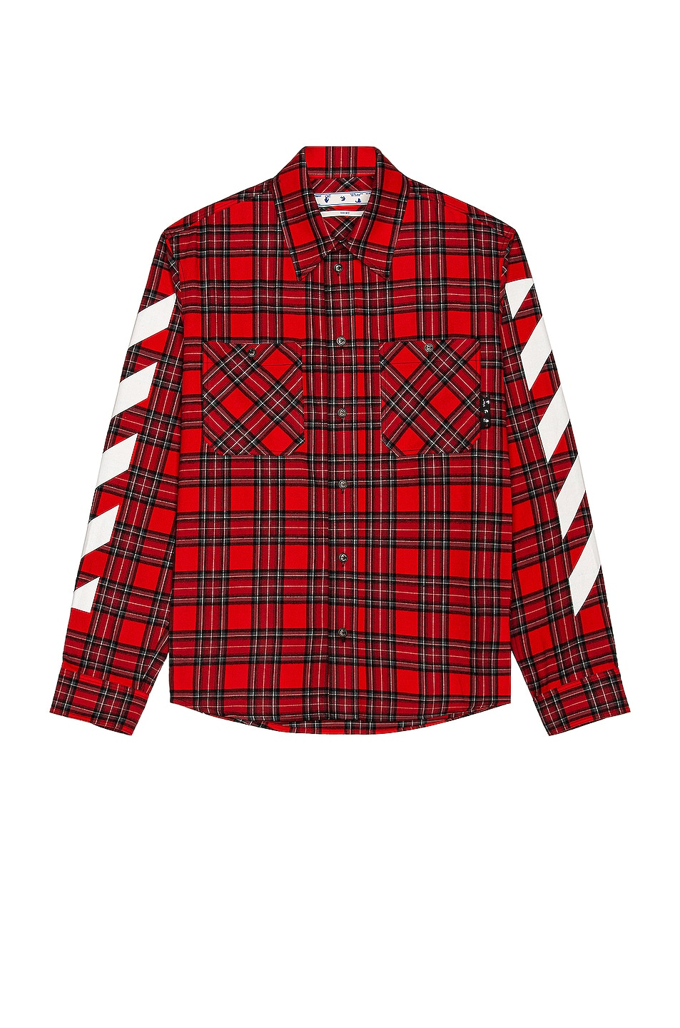 Image 1 of OFF-WHITE Diag Flannel Shirt in Samba & White