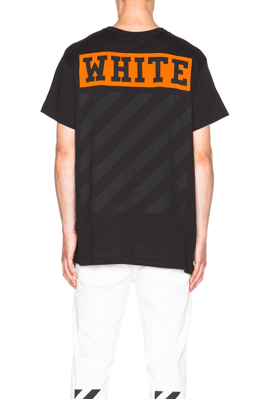 75e75e1b2c Image 4 of OFF-WHITE Orange Box Logo Tee in Black