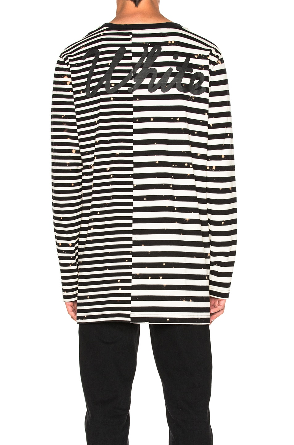 a5563fdc85ba Image 5 of OFF-WHITE Striped Long Sleeve Tee in White   Black