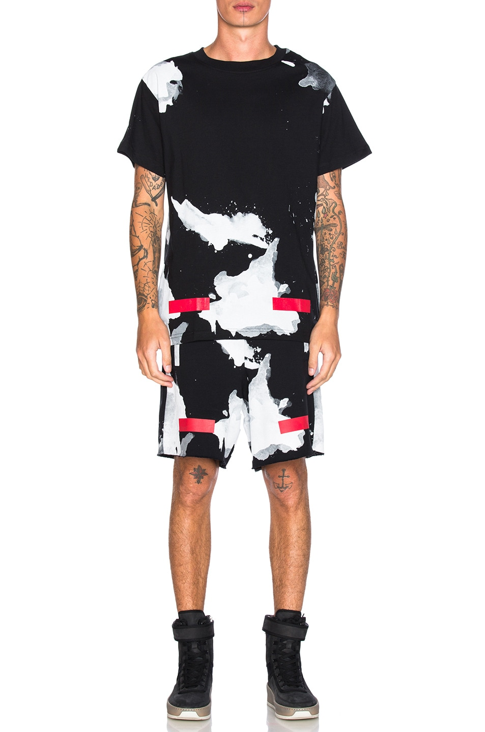 Image 6 of OFF-WHITE Liquid Spots Tee in Red