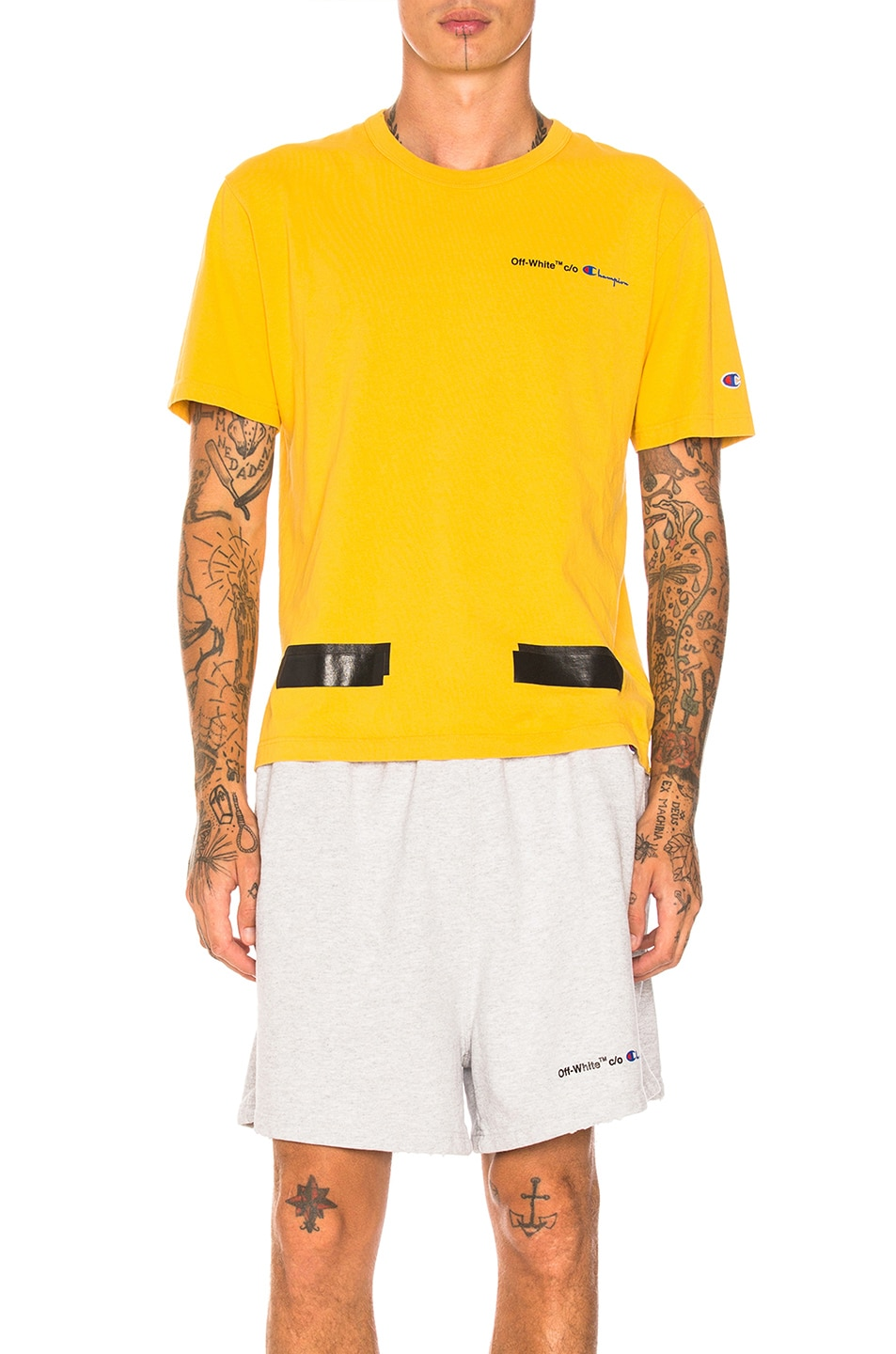 6cae6d3c Image 1 of OFF-WHITE Champion Tee in Yellow