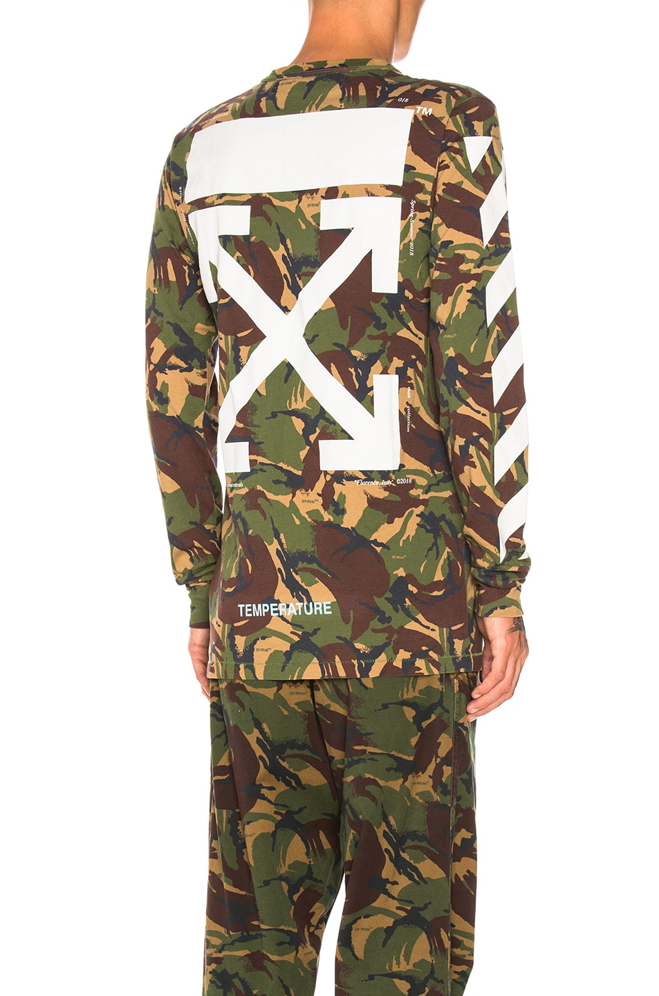 639c6c41 Image 1 of OFF-WHITE Diagonal Long Sleeve Tee in Camo