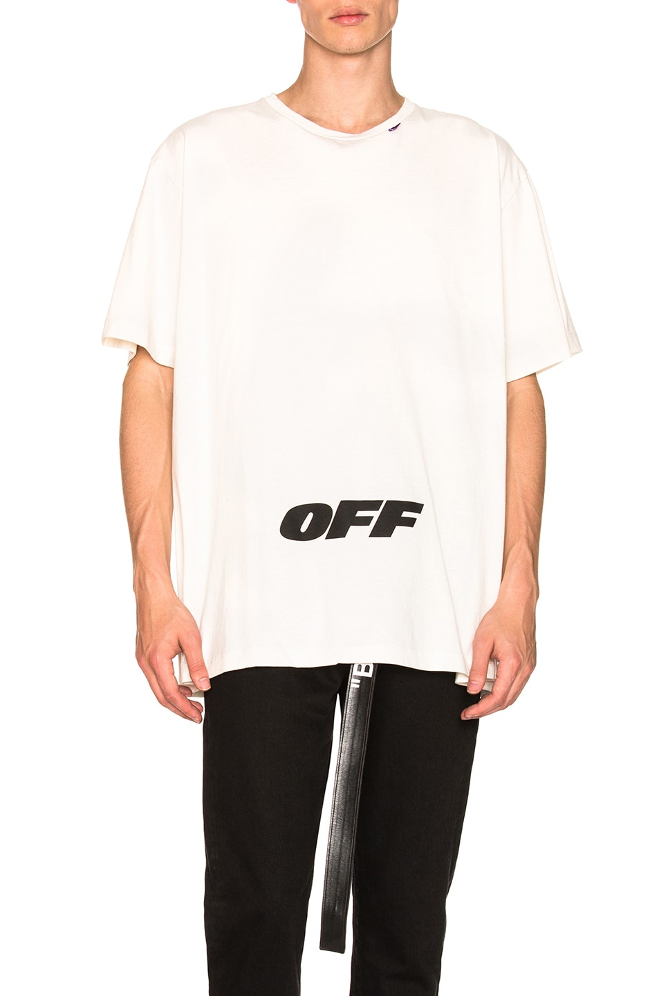 Image 1 of OFF-WHITE Wing Off Oversized Tee in White & Black